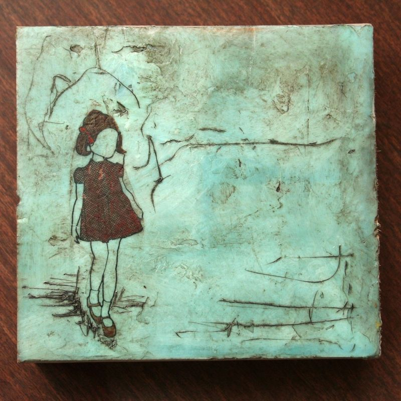 Mimidoodles-Original Encaustic-no.54
